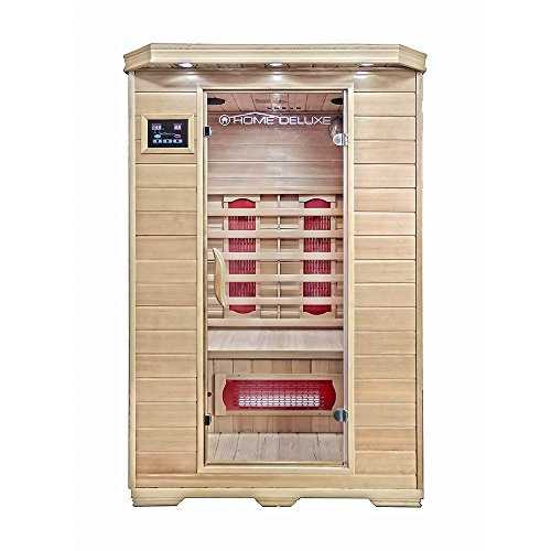 Home Deluxe – Infrarotkabine – Redsun M – Keramikstrahler – Holz: Hemlocktanne - Maße: 120...