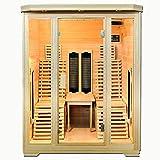 XXL Luxus LED Infrarotsauna Infrarotkabine-Wärmekabine Sauna + Radio USB MP3. inkl. Lieferung mit...