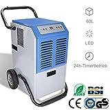 WIS Luftentfeuchter 60L/Tag bis zu 300 m³ (~150 m²) automatische Entfeuchtung│5.5L Großer...