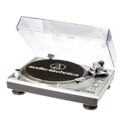 Audio Technica AT-LP120USBHC Plattenspieler mit Direktantrieb inkl. Tonabnehmer AT95E & Headshell...