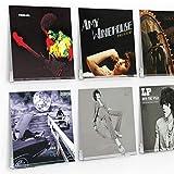 AIFUSI 6 Stück Schallplattenständer, Schallplatten Aufbewahrung transparentem Acryl Halter, Design...